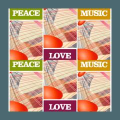 平和ー愛ー芸術、音楽