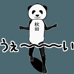 【秋田・あきた】がパンダに着替えたら