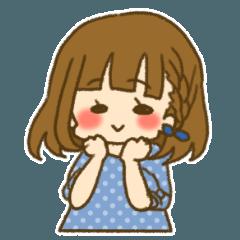 前髪ぱっつん女子 ~くれよん~