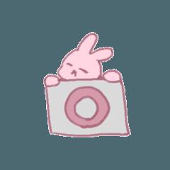 ピンクのうさぎちゃん