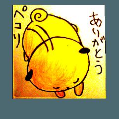 パグ絵本風