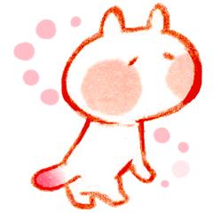 ピンクのしっぽねこ