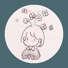 花のはえた女の子