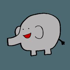 ゾウのスタンプ(おたまる)