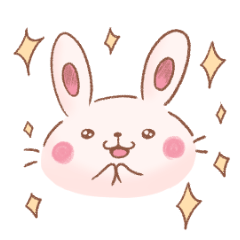 [LINEスタンプ] ある日のうさちゃん (1)