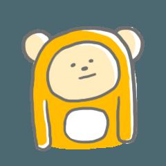 無表情の熊