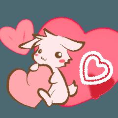 恋するうさぎの敬語スタンプ
