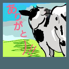 酪農に使える牛さんスタンプ Part2