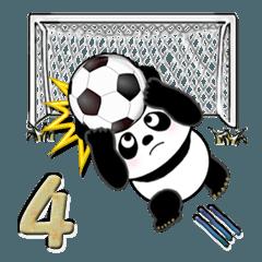【大きめ文字】パンダ Vol.4 (サッカー)
