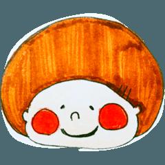 [LINEスタンプ] 気まぐれもち子のお顔 (1)