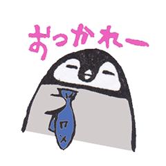 消しゴムはんこでダルペンギン