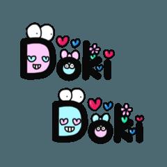 [LINEスタンプ] カラフルな顔文字イラストスタンプ