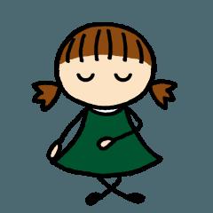 あばたーちゃん 深緑色の女の子②
