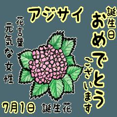 7月、誕生日ごとの誕生花と花言葉。