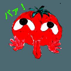 面白〜い野菜スタンプ。トマト編