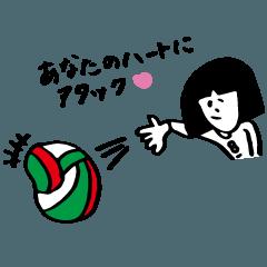 バレーボール lover まちこ