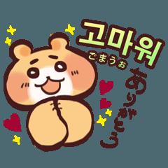 さつまいもとこぐま♡韓国語