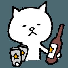 おじ猫 ビール大好き