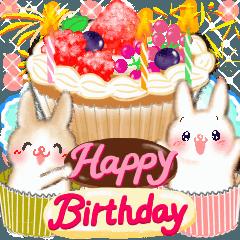 お祝いうさちゃん♡誕生日・イベント