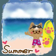 キュート&クールな夏のスタンプ