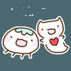 [LINEスタンプ] ふよふよ漂うクラゲとクリオネ