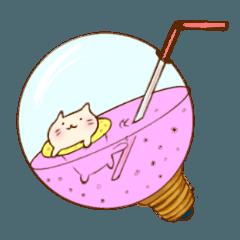 [LINEスタンプ] ぽっちゃりネコ日和 夏