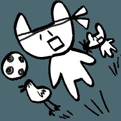 ヒマをもてあましている動物たちとサッカー