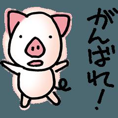応援する子豚 ブヒ!