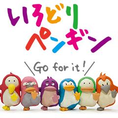 [LINEスタンプ] いろどりペンギン (1)