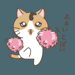 長崎弁で応援する猫