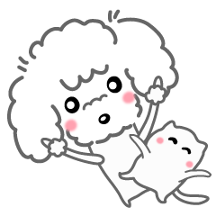 夏だよ~!プードルと可愛い猫ちゃん